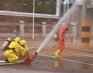 氯气泄漏事故应急演练
