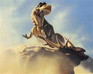 恐龙化石大都张着大嘴