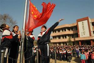 升国旗的学生们5
