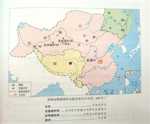 唐朝前期形势图