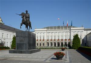 1955年5月14日,《华沙条约》签字仪式在波兰总统府举行。图为波兰总统府