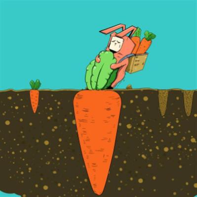 精彩故事:小兔拔萝卜