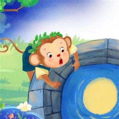 儿歌《猴子捞月亮》