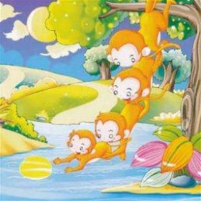 《猴子捞月亮》课文朗读